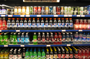 A picture showing different types of acidic drinks